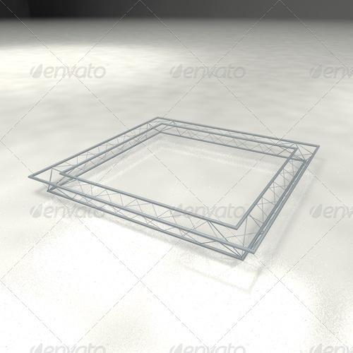 truss trio 3x3 meter - 3DOcean Item for Sale