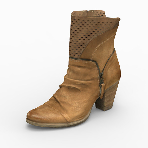 3DOcean woman boot 3D Scanned 12018426