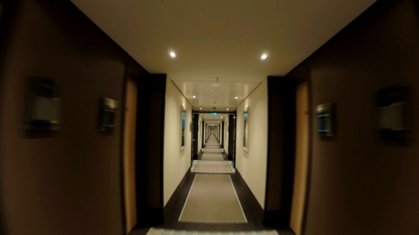 Walking Through The Empty Hotel Hall