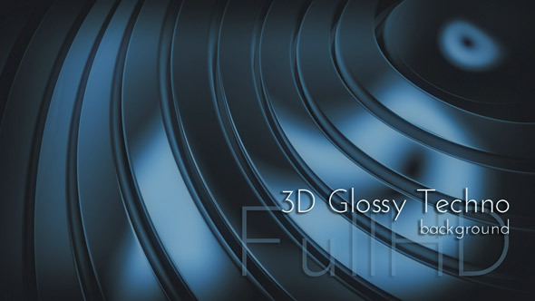 3D Glossy Chameleon Techno Background