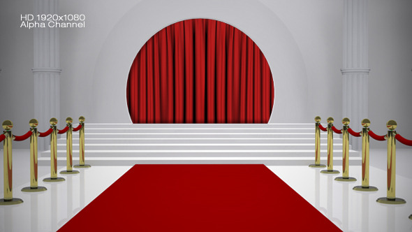 Red Carpet Curtain Open