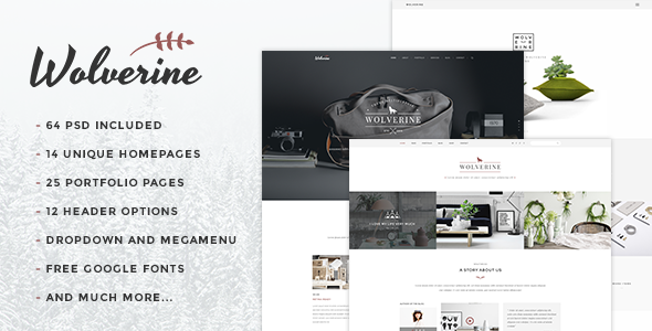 Wolverine – Multipurpose PSD Template (Creative) Download