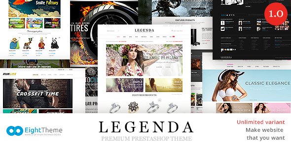 Legenda -Responsive Multi-Purpose Prestashop Theme (Fashion) Download