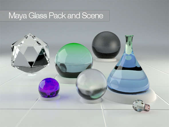 3DOcean Maya Vray 2.0 Glass Pack 12022014