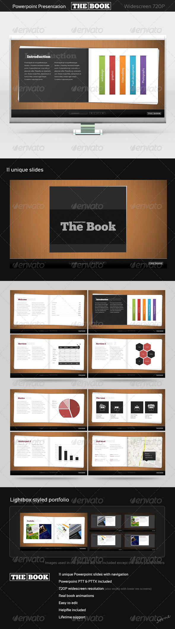 The Book PowerPoint template - Powerpoint Templates Presentation Templates