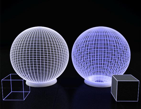 3DOcean Maya Vray Illuminated solid and trans Wire shader 12023655