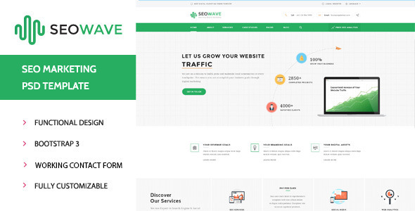 Seo Wave – HTML Template for SEO (Business) Download