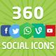 360 Flat Social Media Icons