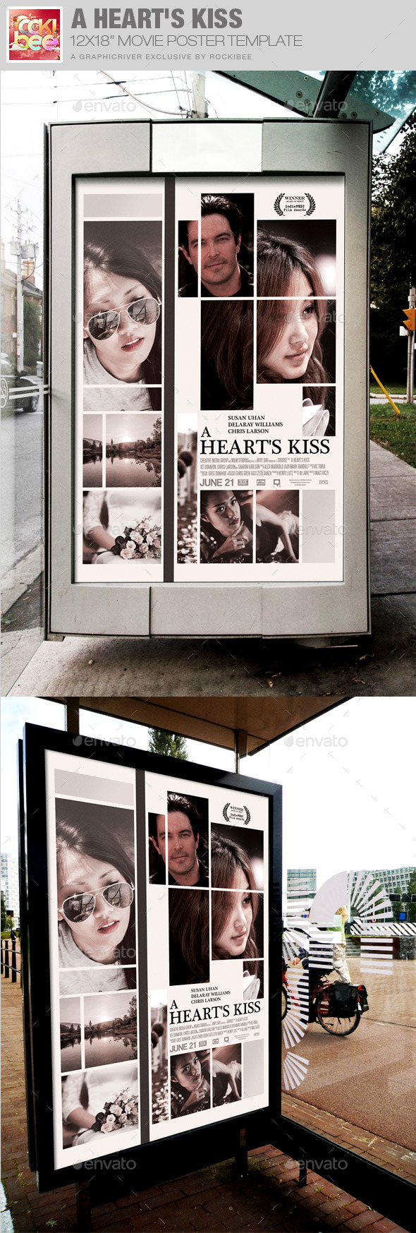 A Heart's Kiss Movie Poster Template