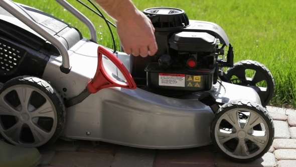 Running Gasoline Mowers
