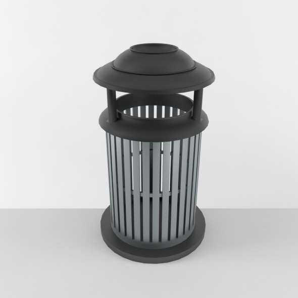 Outdoor Trash Can 03 - 3DOcean Item for Sale