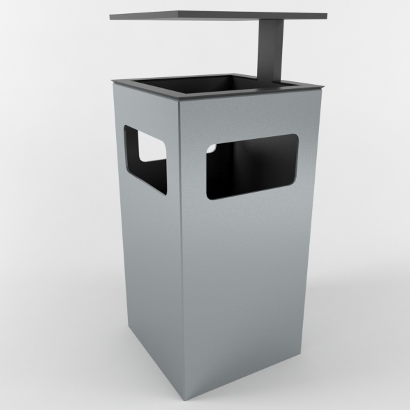 Outdoor Trash Can 04 - 3DOcean Item for Sale