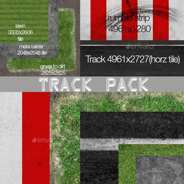 Race Track textures - 3DOcean Item for Sale