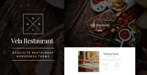 Vela – Exquisite Restaurant WordPress Theme (Restaurants & Cafes) Download