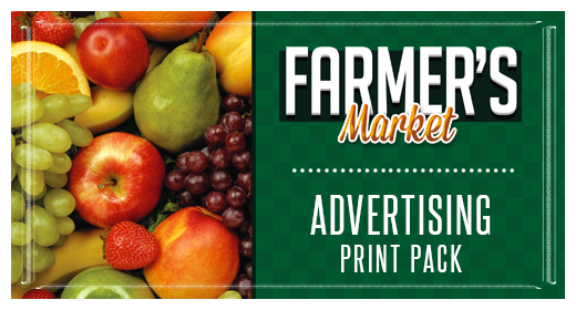 Farmers Market Advertising Print Pack