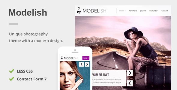 Download Modelish - A Unique Photography WordPress Theme nulled download