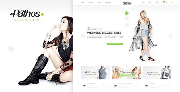 Pathos – eCommerce Responsive HTML Template (Shopping) Download
