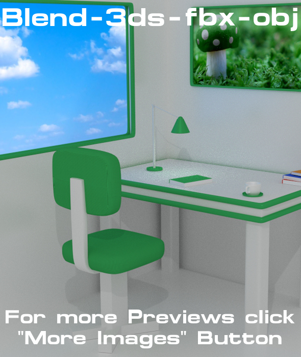 3DOcean Workspace Design 1 Green Light 12039800