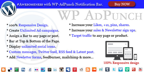WP-AdPunch – #Awesome Notification Bars (Advertising) Download