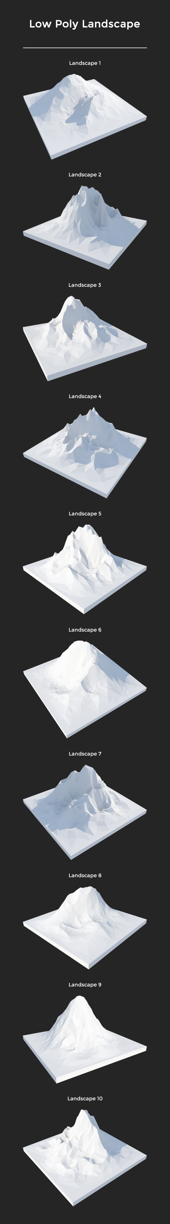 Pack Low Poly Landscape - 3DOcean Item for Sale