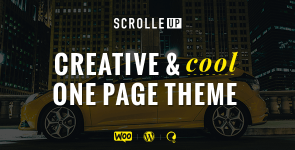 ScrolleUP – Creative One Page WordPress Theme (Portfolio) Download