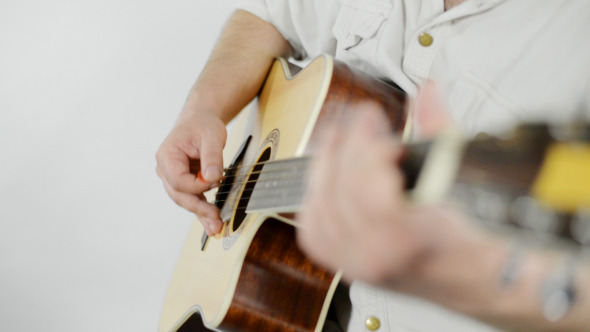 VideoHive Guitar Playing in Studio 12041278
