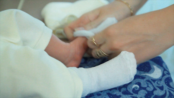 VideoHive Mother s Arms Child Wear Socks 12042245