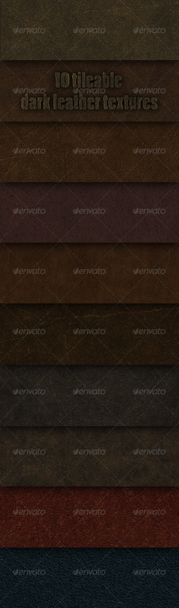 GraphicRiver 10 tileable dark leather textures 147033