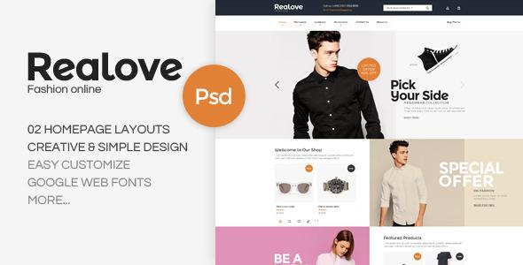 Realove – Fashion PSD Template (Fashion) Download
