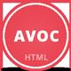 Avoc - Minimal Portfolio / Agency Template