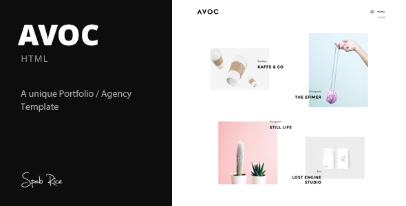 Avoc – Minimal Portfolio / Agency Template (Portfolio) Download