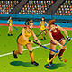 People Playing Field Hockey in the Competition