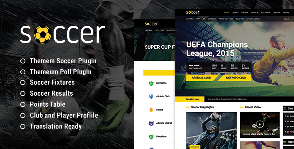 WP Soccer – Sport Team Clubs WordPress Theme (Nonprofit) Download