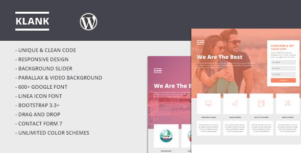 Klank WordPress Multipurpose Landing Page (Marketing) Download