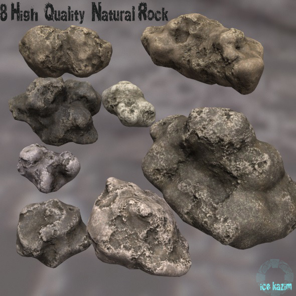 3DOcean Rock Set 12043918