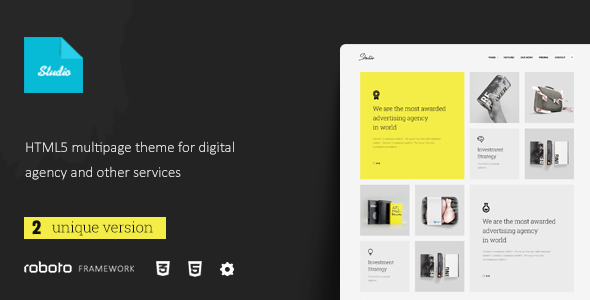 Studio – Multi-Page Responsive Website Template (Portfolio) Download