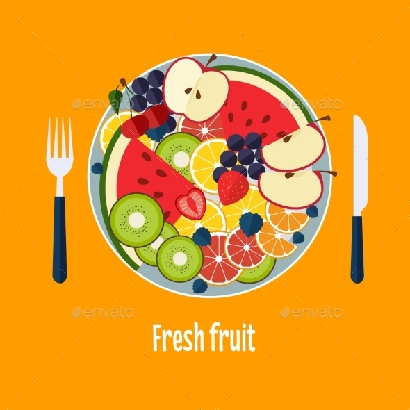 Salad From Fruit And Berries