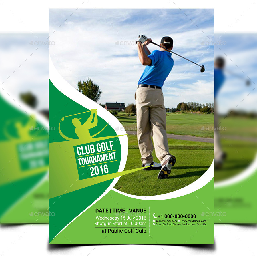Golf Tournament Flyer Template By Aam360