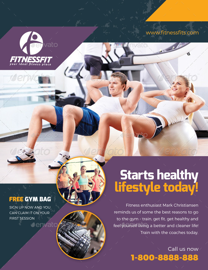 Sport Fitness Flyer Vol08 by kitcreativestudio2 – Fitness Flyer
