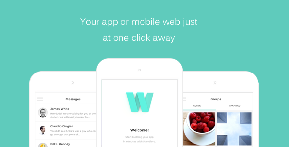 HTML Front-end Mobile App/Web Template (Mobile) Download