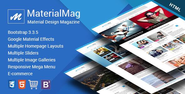 MaterialMag - Material Design Responsive Template