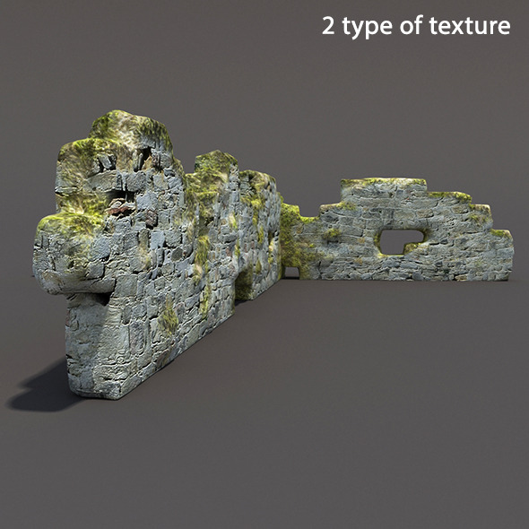 3DOcean English Castle Ruin #7 12049776