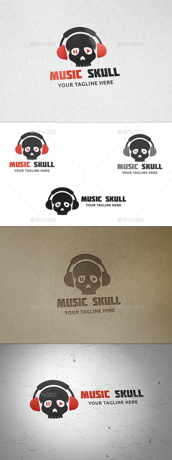 Music Skull - Logo Template