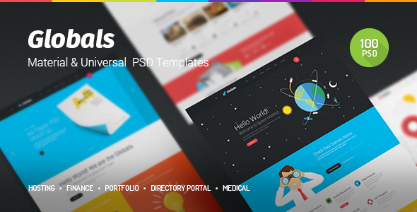 Globals – Material & Universal PSD Template (Creative) Download