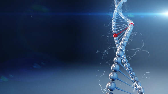Background With Rotating Deoxyribonucleic Acid