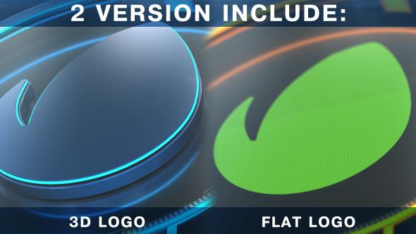 3D Neon Logo Element 3D V2