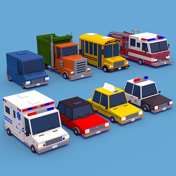 Vehicle Collection - 3DOcean Item for Sale