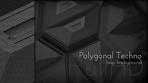 Black Polygonal Techno Background