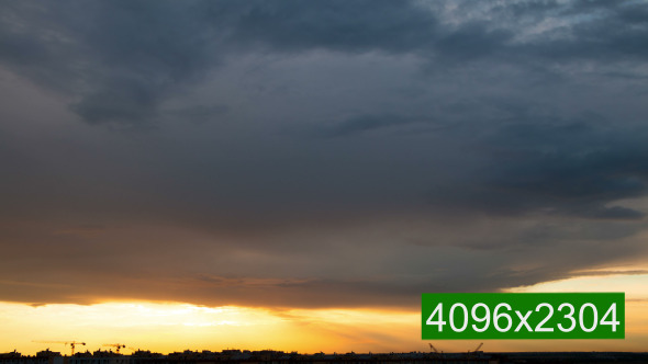 VideoHive Dramatic Sky over the City 12053016