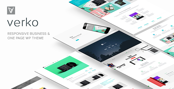 Verko | Responsive Business & One Page WP Theme (Business) Download
